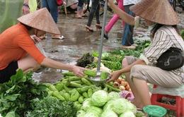 """Hà Nội: Mưa bão khiến thực phẩm """"đội"""" giá"""