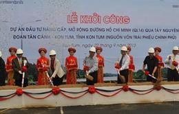 Khởi công nâng cấp, mở rộng đường Hồ Chí Minh qua Tây nguyên