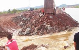 Đắk Lắk: Vỡ kênh dẫn dòng thủy điện Sêrêpốk 4A
