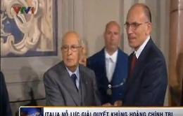 Italy nỗ lực giải quyết khủng hoảng chính trị