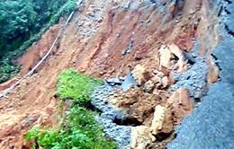 Quảng Ngãi: Nứt núi có nguy cơ gây sạt lở