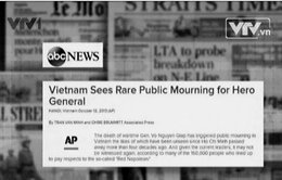 Báo chí quốc tế viết về lễ viếng Đại tướng Võ Nguyên Giáp
