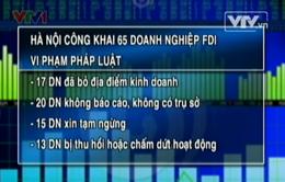 Hà Nội công khai 65 doanh nghiệp FDI vi phạm pháp luật