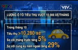 Lần đầu trong năm, tiêu thụ ô tô vượt ngưỡng 10.000 xe