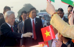 Tổng Bí thư Nguyễn Phú Trọng bắt đầu thăm cấp Nhà nước tới Ấn Độ
