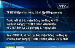 TP.HCM tiếp nhận hồ sơ thành lập doanh nghiệp qua mạng