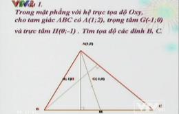 BTKTVH: Phương pháp tọa độ trong mặt phẳng