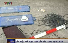 Ôtô đâm vào Trạm kiểm tra tải trọng xe lưu động tại Hà Nam