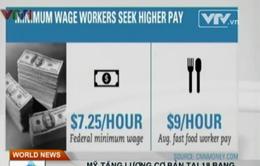 Mỹ tăng lương cơ bản tại 18 bang