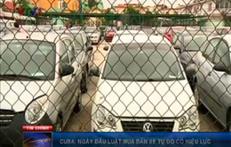Cuba: Ngày đầu luật mua bán xe có hiệu lực
