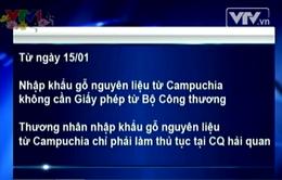 Nhập khẩu gỗ nguyên liệu từ Campuchia không cần giấy phép của Bộ Công thương