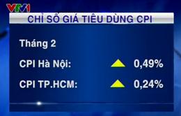 CPI tháng 2 của Hà Nội và TP.HCM thấp nhất trong 10 năm