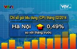 Hà Nội: Chỉ số giá tiêu dùng tháng 2 tăng 0,49%