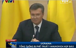 Ukraine: Tổng thống bị phế truất Yanukovich họp báo