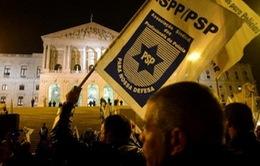 Cảnh sát Bồ Đào Nha biểu tình phản đối cắt giảm lương