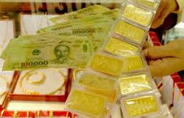 Giá vàng trong nước giảm nhẹ theo đà giảm vàng thế giới