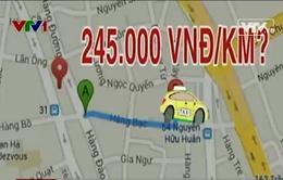 """Taxi """"chém"""" khách ngoại 245.000 đồng cho 1km"""