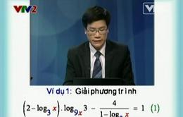 BTKT môn Toán: Phương trình logarit - Phần 2