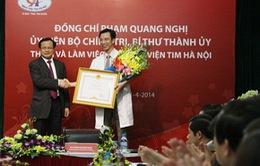 Bí thư Thành ủy Phạm Quang Nghị thăm Bệnh viện Tim Hà Nội