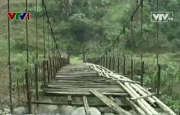 Hà Giang: Cầu treo xuống cấp, ẩn họa khôn lường