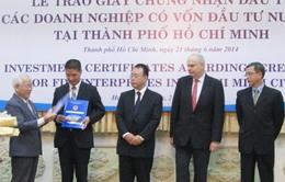 TP.HCM trao giấy chứng nhận đầu tư cho doanh nghiệp FDI