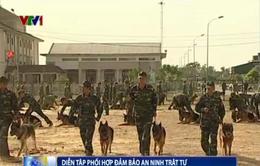 Diễn tập đảm bảo an ninh trật tự tại Khu kinh tế Vũng Áng