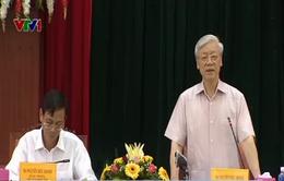 Tổng Bí thư Nguyễn Phú Trọng thăm và làm việc tại Ninh Thuận