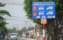 Loại bỏ các biển thông tin tốc độ không phù hợp trên quốc lộ