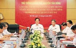 Tháng 9/2014, phải công bố các thủ tục hành chính về đất đai