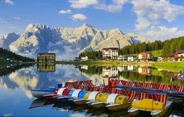 Cảnh tượng hùng vĩ của dãy Alps ở Ý
