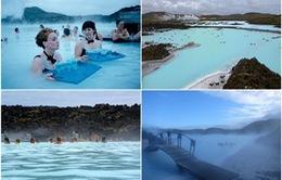 Ngắm khu spa xanh biếc ở Iceland