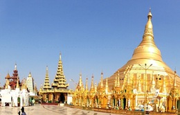 Lỗng lẫy chùa Vàng ở Yangon, Myanmar