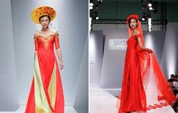 Quán quân Vietnam's Next Top Model diện áo dài cưới lộng lẫy