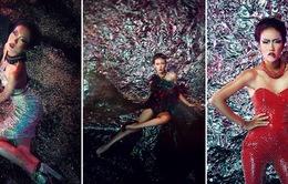 Nhã Trúc Next Top Model khổ vì trang phục kim tuyến, đinh tán