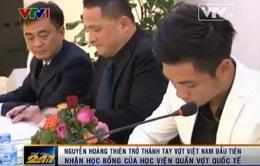 Nguyễn Hoàng Thiên nhận học bổng toàn phần của Học viện Hope Tennis