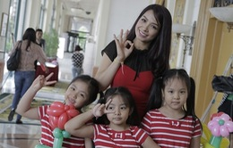 Sao Việt tạo dáng bên các con trong ngày ra mắt Đồ Rê Mí 2014
