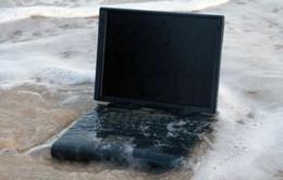 Làm gì khi máy tính xách tay bị ướt?