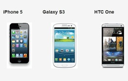 Chọn iPhone 5, Galaxy S3 hay HTC One?