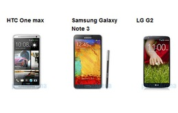 Chọn HTC One Max, Galaxy Note 3 hay LG G2?