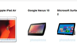 Chọn iPad Air, Google Nexus 10 hay Surface 2?