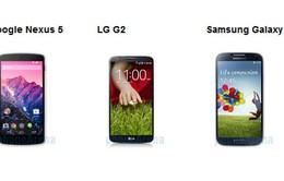 Chọn Nexus 5, LG G2 hay Samsung Galaxy S4?