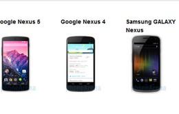 Nexus 5 - Nexus 4, Galaxy Nexus: Đi tìm sự khác biệt