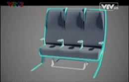 VIDEO: Ghế máy bay co giãn theo cơ thể hành khách