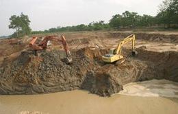 Chấn chỉnh hoạt động khai thác cát trên sông Lô