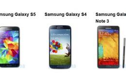 Chọn Galaxy S5, Galaxy S4 hay Note 3?