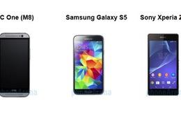Chọn HTC One M8, Galaxy S5 hay Xperia Z2?