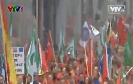 40.000 công nhân châu Âu biểu tình tại Brussels