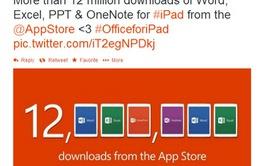 Office cho iPad đạt 12 triệu lượt tải về trong một tuần