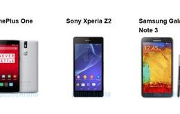 "OnePlus One ""đọ sức"" cùng Xperia Z2, Galaxy Note 3"