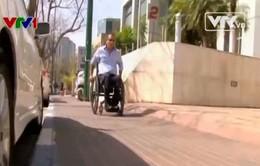 Công nghệ bánh xe giúp xe xuống cầu thang dễ dàng